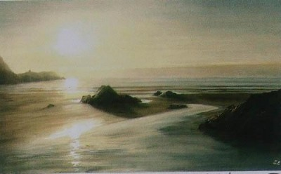 Evening Sunlight on Traethllyfn by Sheila Craft