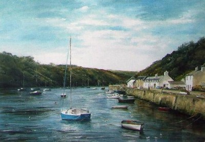 Boats, Lower Fishguard by Sheila Craft